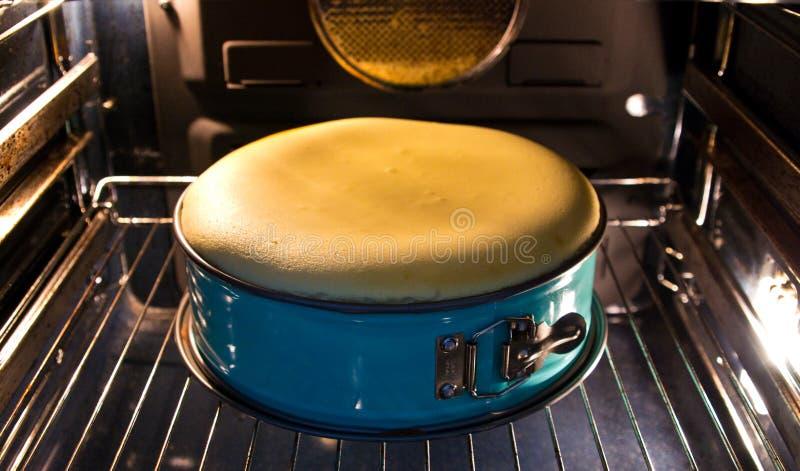 Pastel de queso hecho en casa en el horno fotos de archivo libres de regalías