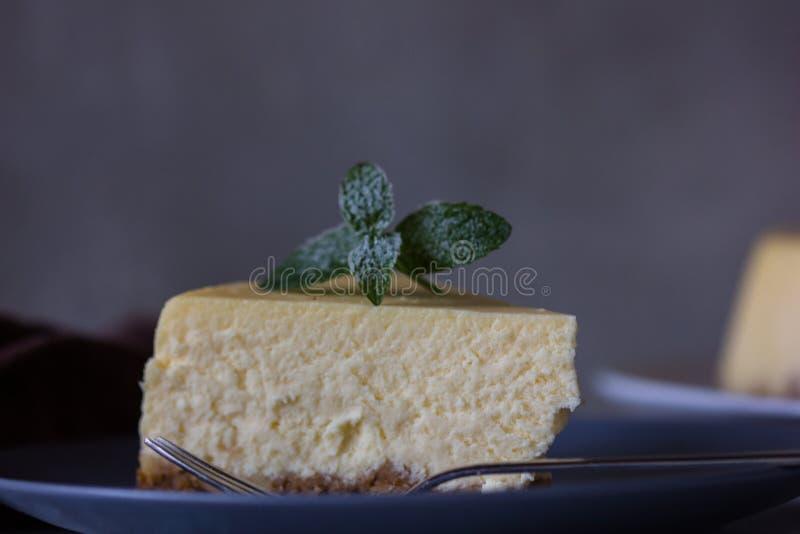 Pastel de queso de la naranja de la Navidad Receta tradicional de la torta del invierno del pastel de queso festivo de la Navidad fotos de archivo libres de regalías