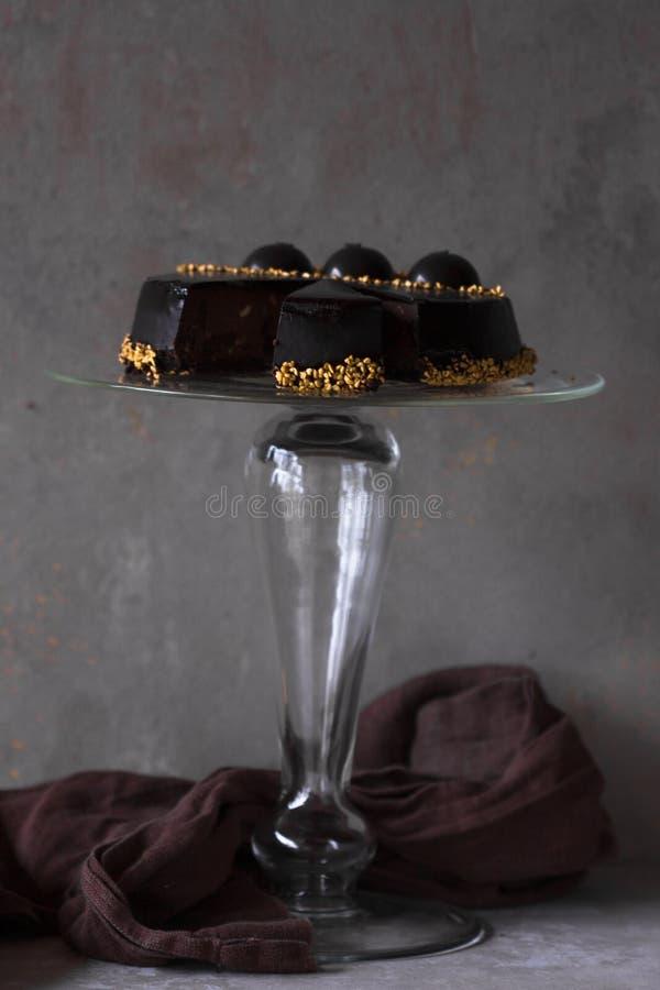 Pastel de queso de la Navidad con mascarpone Receta tradicional de la torta del invierno del pastel de queso festivo de la Navida fotos de archivo