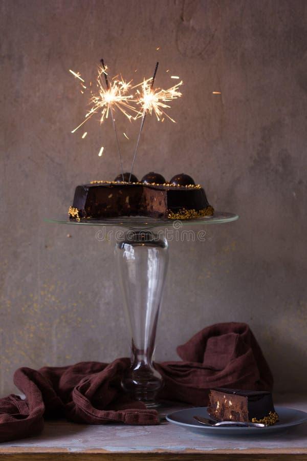Pastel de queso de la Navidad con mascarpone Receta tradicional de la torta del invierno del pastel de queso festivo de la Navida foto de archivo libre de regalías