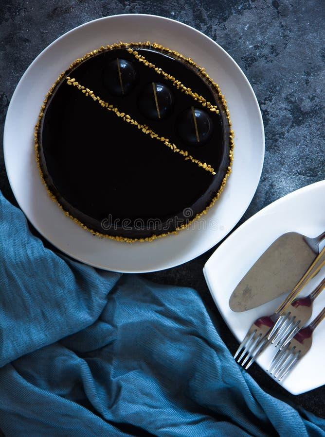 Pastel de queso de la Navidad con mascarpone Receta tradicional de la torta del invierno del pastel de queso festivo de la Navida imagen de archivo libre de regalías