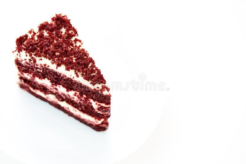 Pastel de queso rojo del terciopelo imagen de archivo libre de regalías