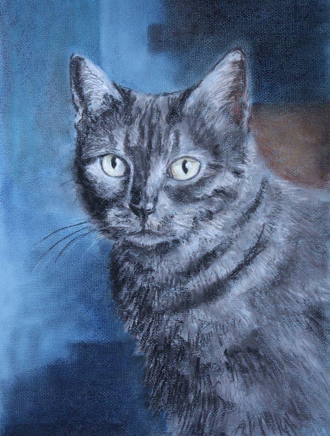 Pastel de um gato ilustração royalty free