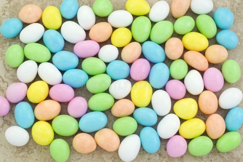 Pastel Easter Candy Background Stock Photo