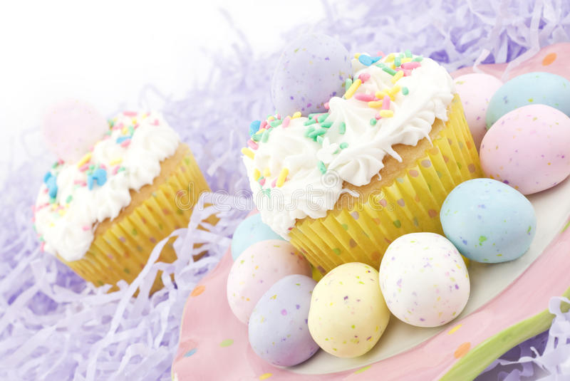 Download Pastel Easter Cupcakes stock photo. Image of gourmet - 13278496