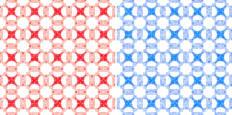 Pastel fabric seamless pattern royalty free illustration