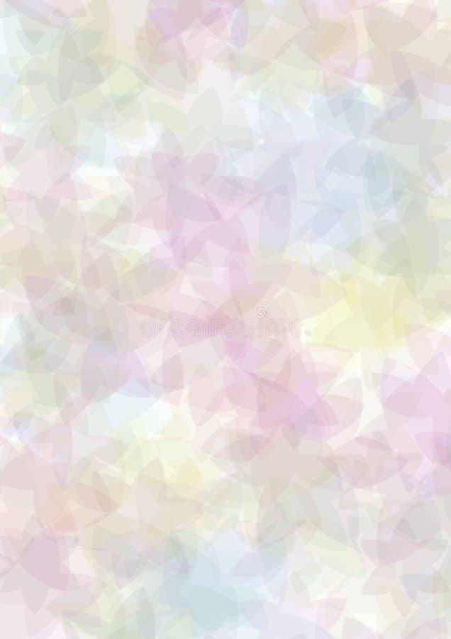 Pastel floral background stock illustration