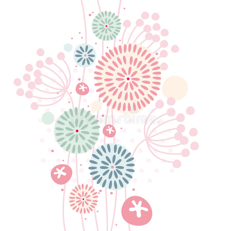 Pastel floral background royalty free illustration