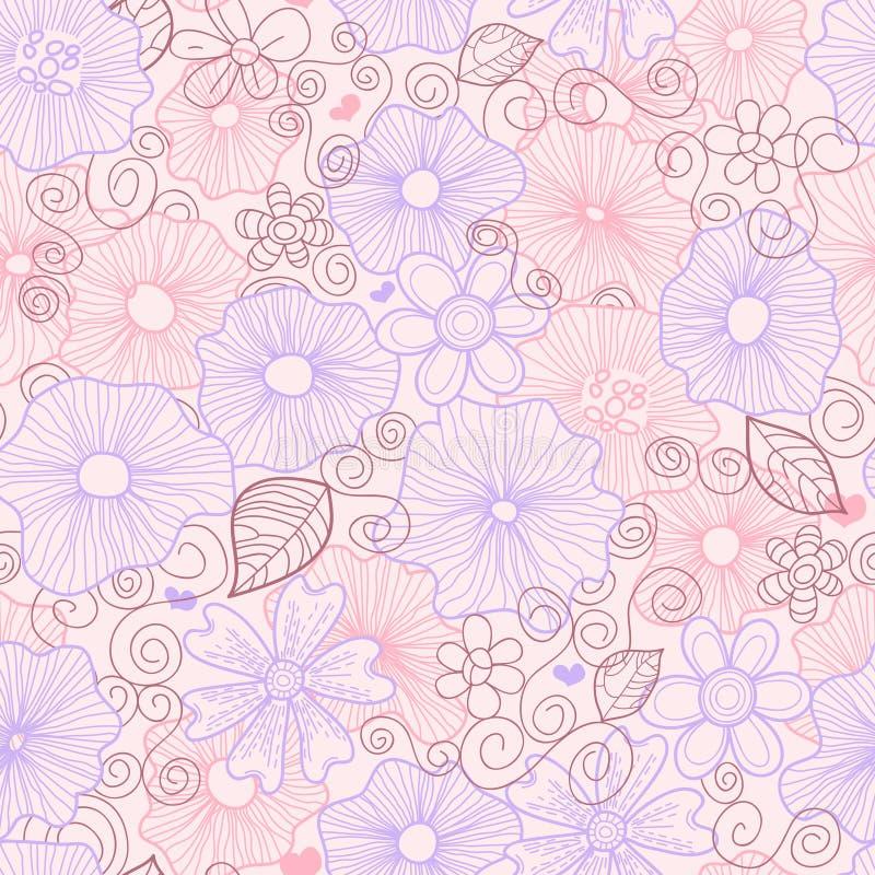 Pastel floral pattern royalty free illustration