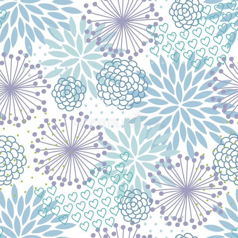 Pastel floral pattern vector illustration