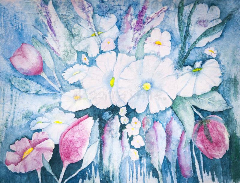 Download Pastel Flowers stock illustration. Illustration of original - 27092814