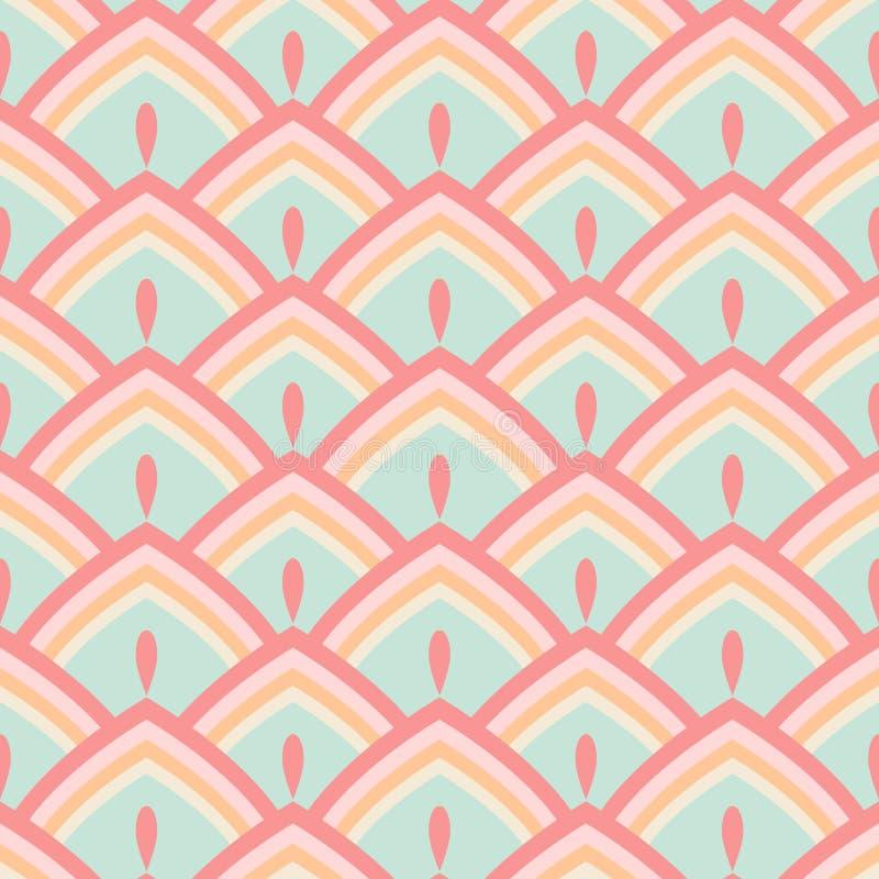 Pastel geométrico abstracto inconsútil del modelo ilustración del vector