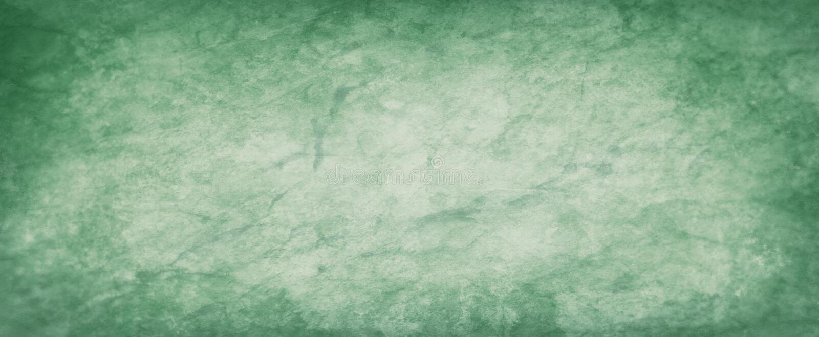 Green background with watercolor paint blobs drips and drops in old faded vintage texture design. Pastel green background with watercolor paint blobs drips and stock illustration