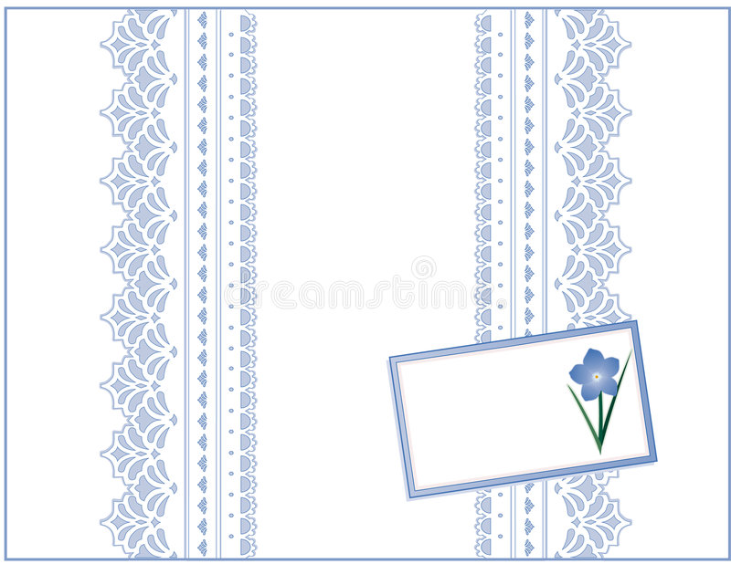 Download Pastel Lace, Forget Me Not Gift Box With Card Stock Images - Image: 6407804