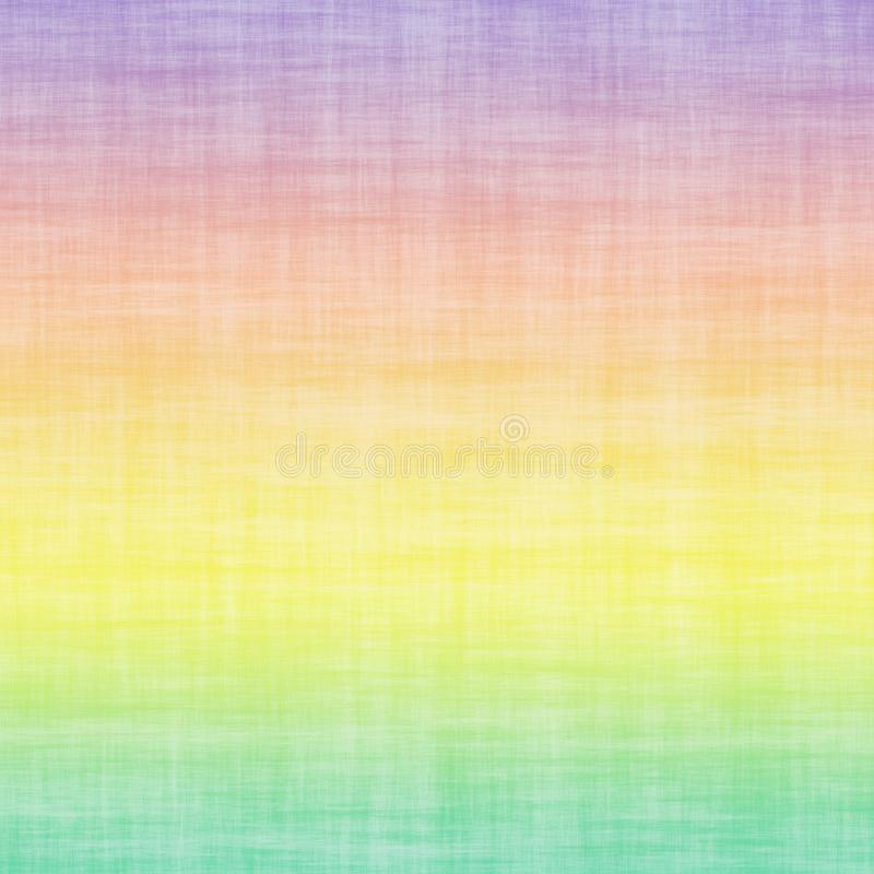 Pastel Multi Colored Ombre Gradient Linen Cotton Grunge Minimal Abstract Colorful Background royalty free illustration