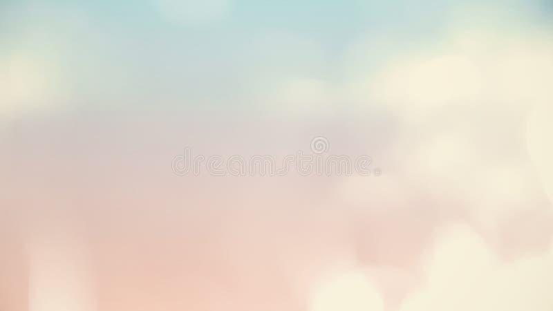 Pastel nublado suave de la pendiente, fondo liso de Bokeh del extracto fotos de archivo