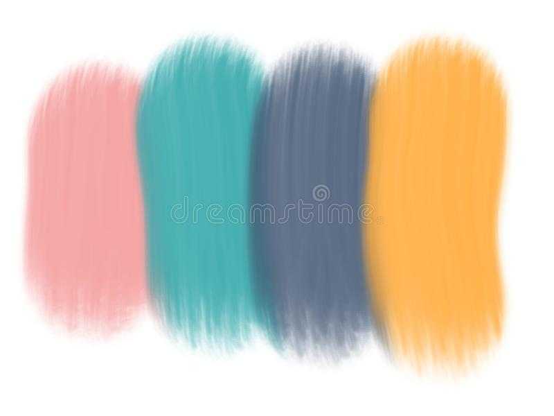 Pastel oil paint brushing abstract background. Digital art painting image royalty free illustration