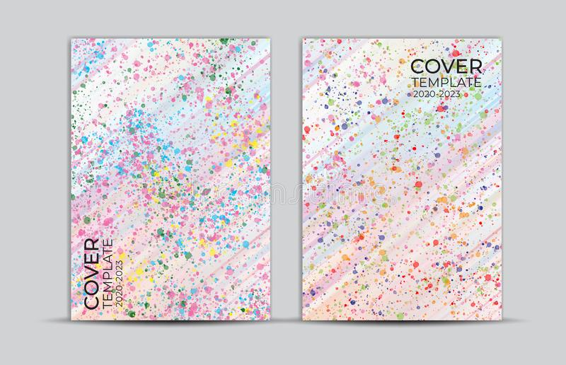 Pastel painting background, cover design, card, web banner, poster template, trendy texture, paper art, abstract vector. Illustration, book cover stock illustration
