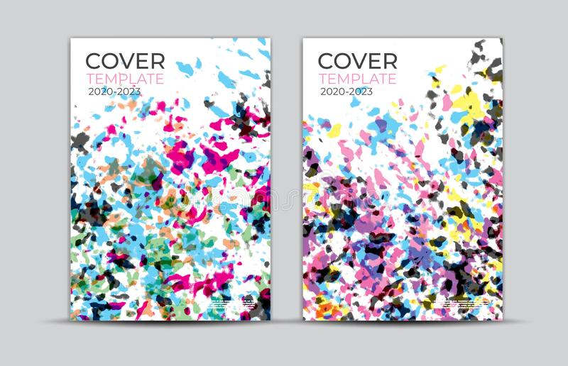 Pastel painting background, cover design, card, web banner, poster template, trendy texture, paper art, abstract vector, book. Pastel painting background, cover royalty free illustration