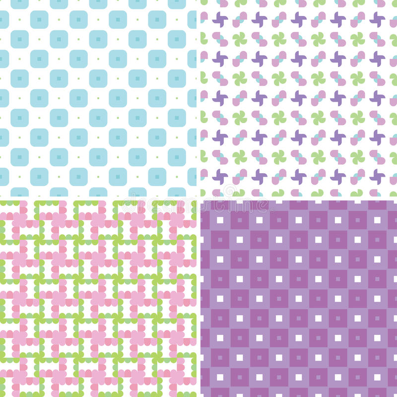 Download Pastel patterns stock vector. Image of repetition, wallpaper - 31796069