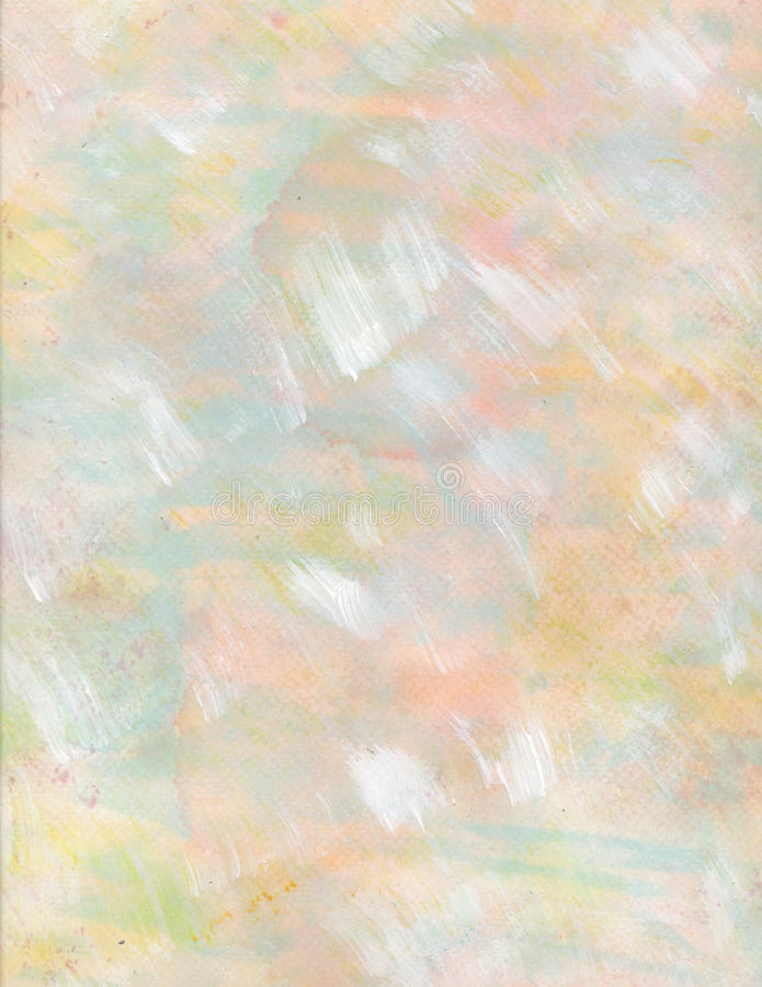 Pastel pink yellow blue watercolor background stock illustration