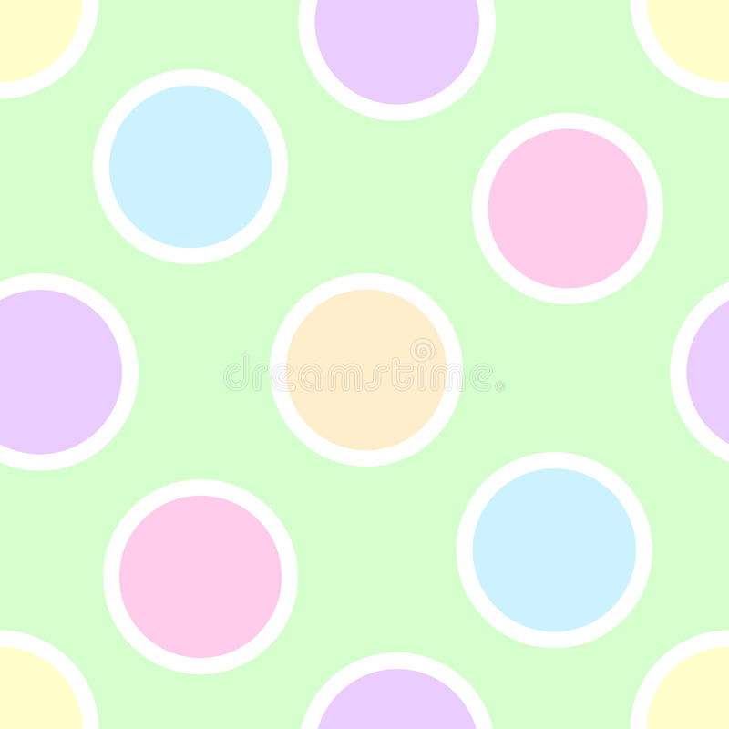 Pastel Polka Dots vector illustration