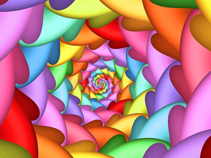 Pastel Psychedelic Rainbow Spiral Background. Texture royalty free illustration