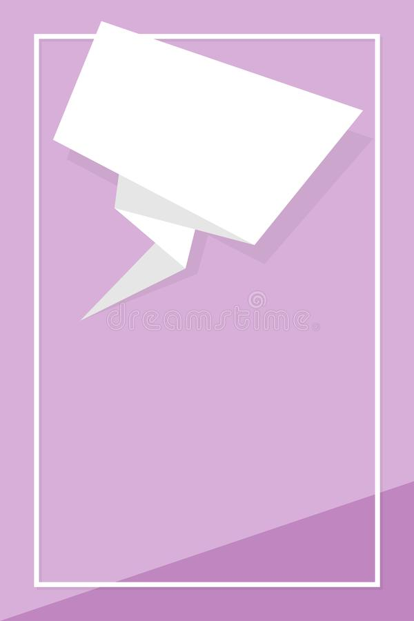 Pastel purple color frame banner template flat lay fashion style, purple bright square blank copy space for advertising banner royalty free illustration