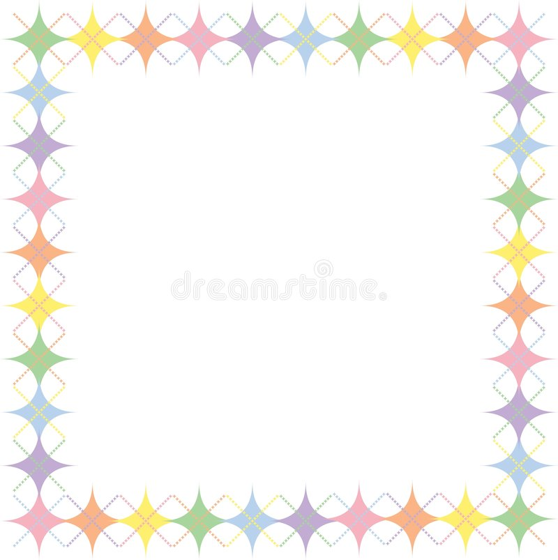 Download Pastel Rainbow Argyle Stars Border Stock Illustration - Illustration: 4454202