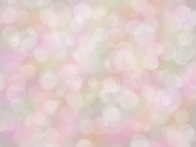 Pastel rainbow background with boke effect stock illustration