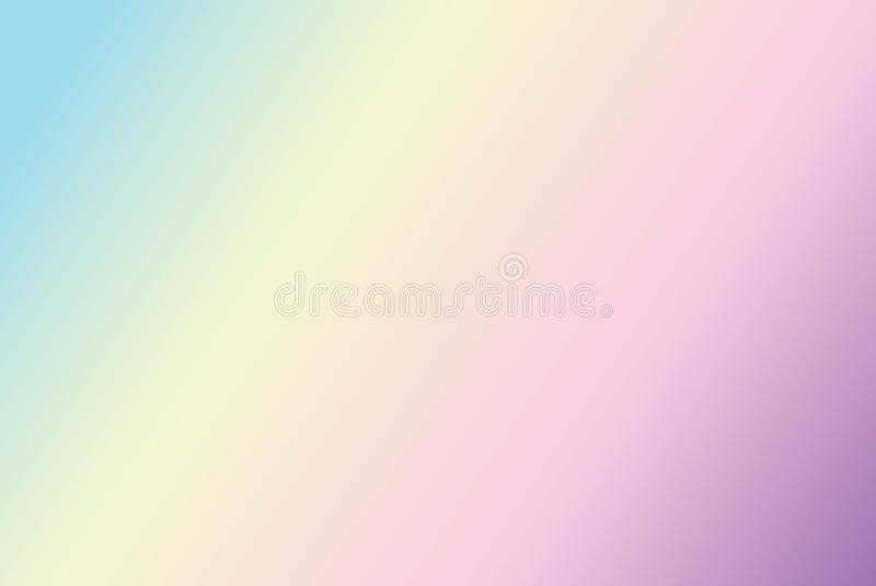 Pastel rainbow gradient background royalty free illustration