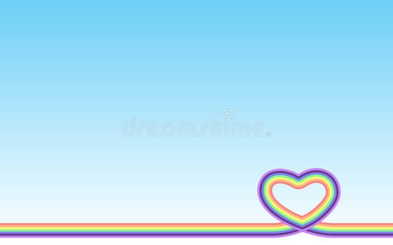 Pastel rainbow heart royalty free illustration