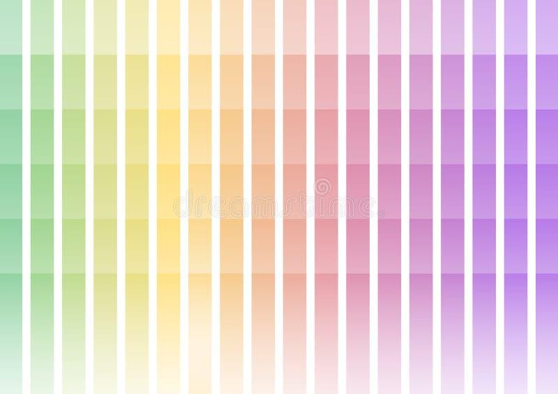 Pastel rainbow pixel bar abstract background stock illustration