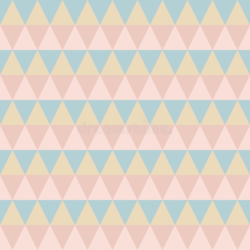 Pastel retro seamless pattern royalty free illustration