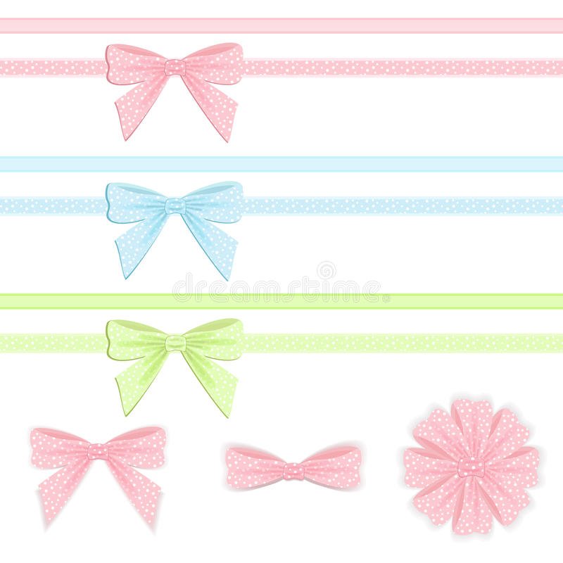 Download Pastel Ribbon And Bow Collection. Stock Vector - Image: 22190184