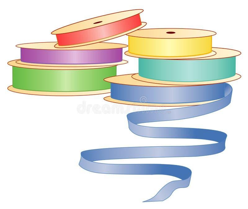 pastel ribbons satin διανυσματική απεικόνιση
