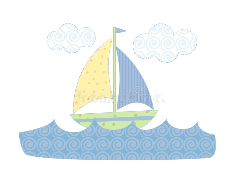 Download Pastel sailboat stock vector. Image of dock, pattern, motor - 983143