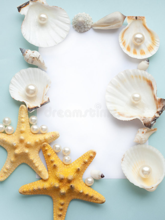Download Pastel sea frame stock photo. Image of design, note, blank - 7925438