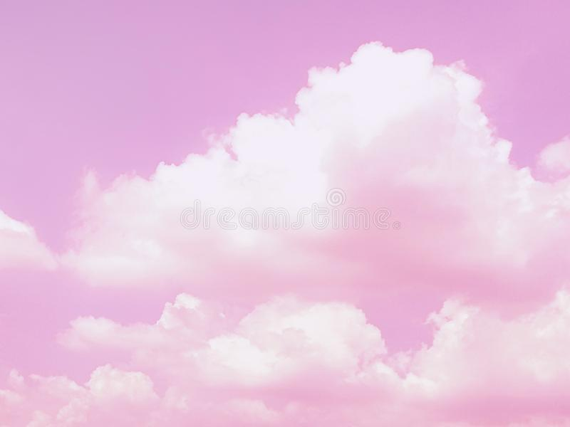 Pastel sky and white cloud, abstract background royalty free stock photography