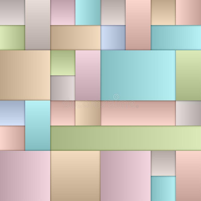 Pastel Squares vector illustration