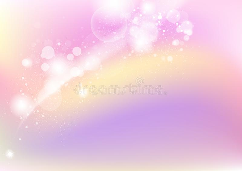 Pastel, stars shimmer abstract background, dust and grain scatter blinking blur vector illustration, celebrate festive holiday. Pastel, stars shimmer abstract royalty free illustration