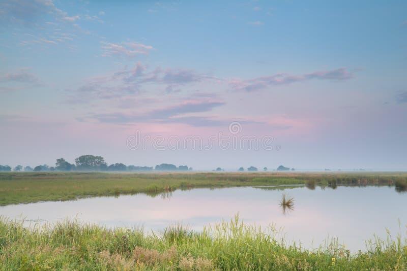 Download Pastel Summer Sunrise Over River Stock Image - Image: 35648023