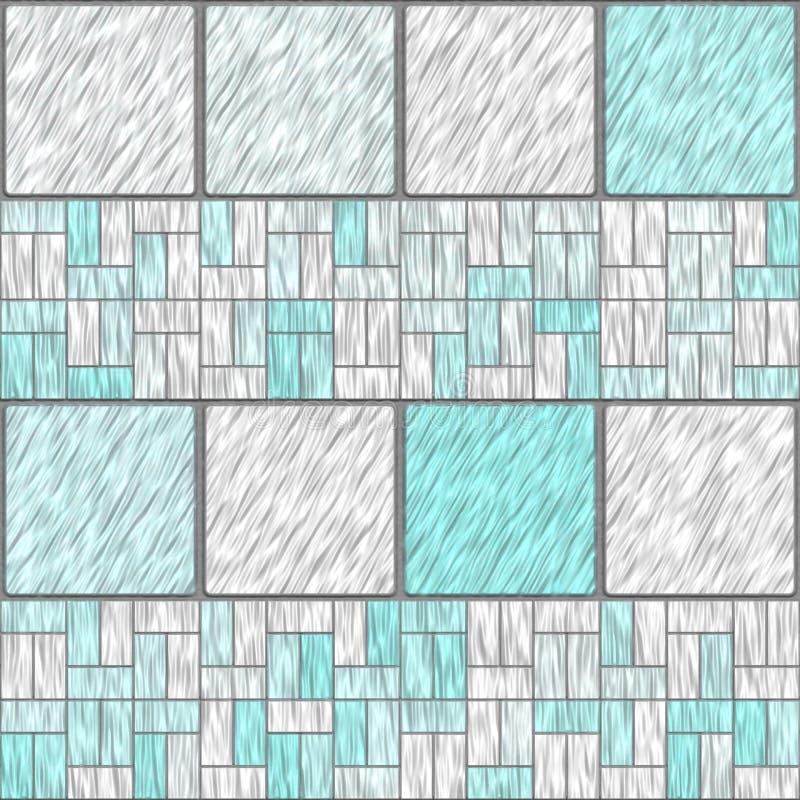 Pastel tiles. Pastel ceramic tiles that tile seamless in all directions stock illustration