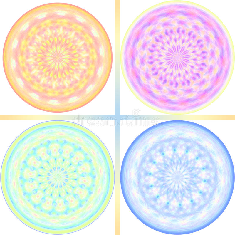 Download Pastel Tone Kaleidoscope Design Stock Illustration - Illustration of material, circular: 22559610