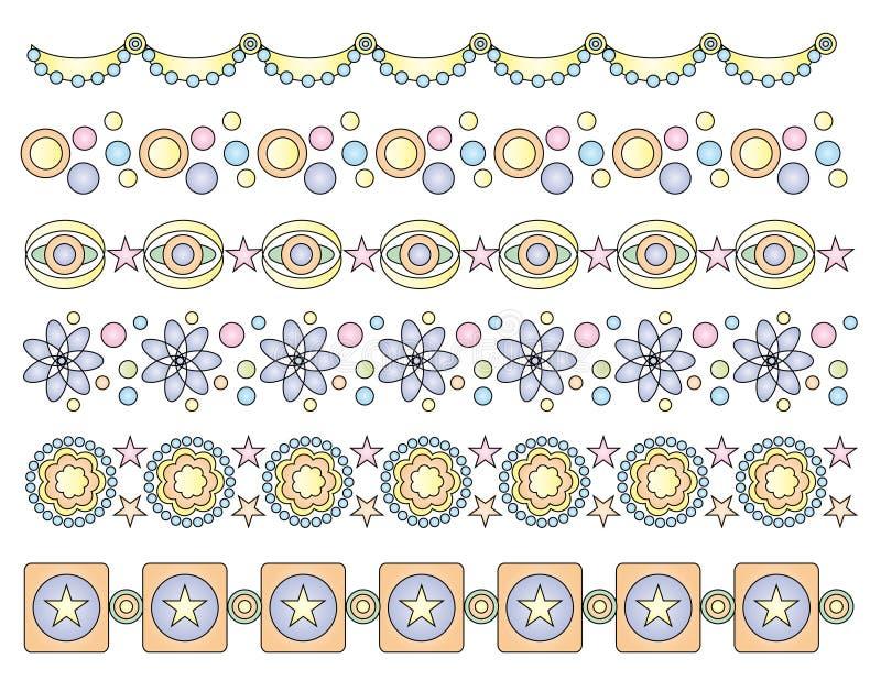 Pastel trims or border royalty free illustration