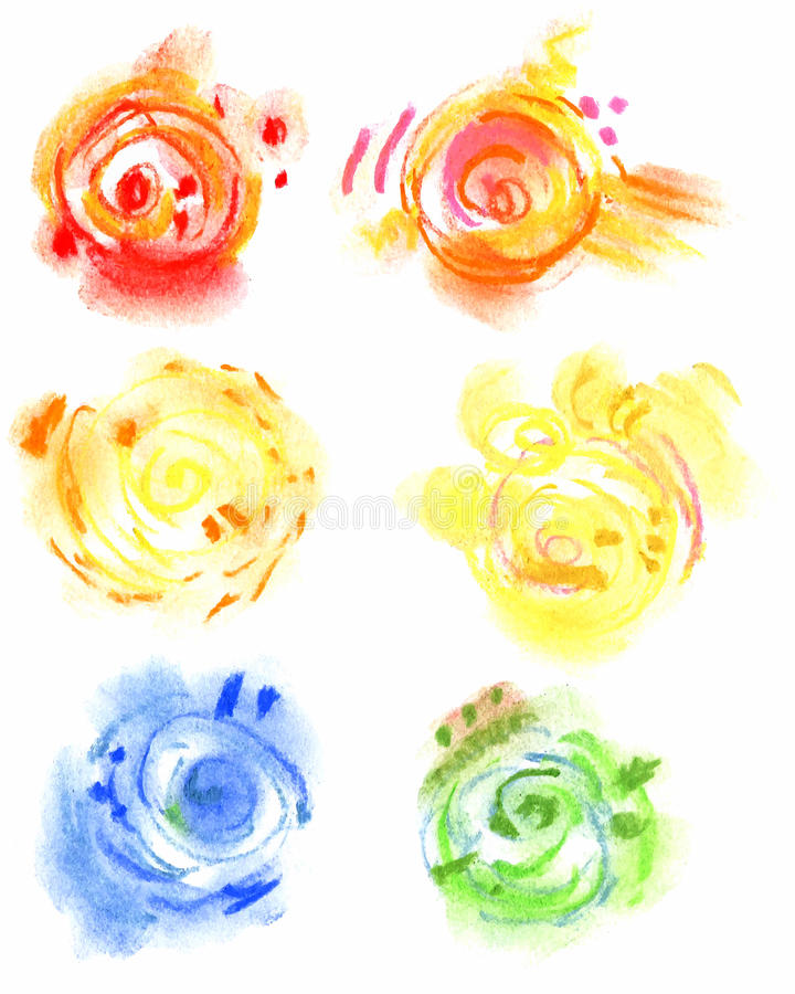 Pastel vector hand drawn abstract elements. Pastel vector hand drawn abstract circle elements royalty free illustration
