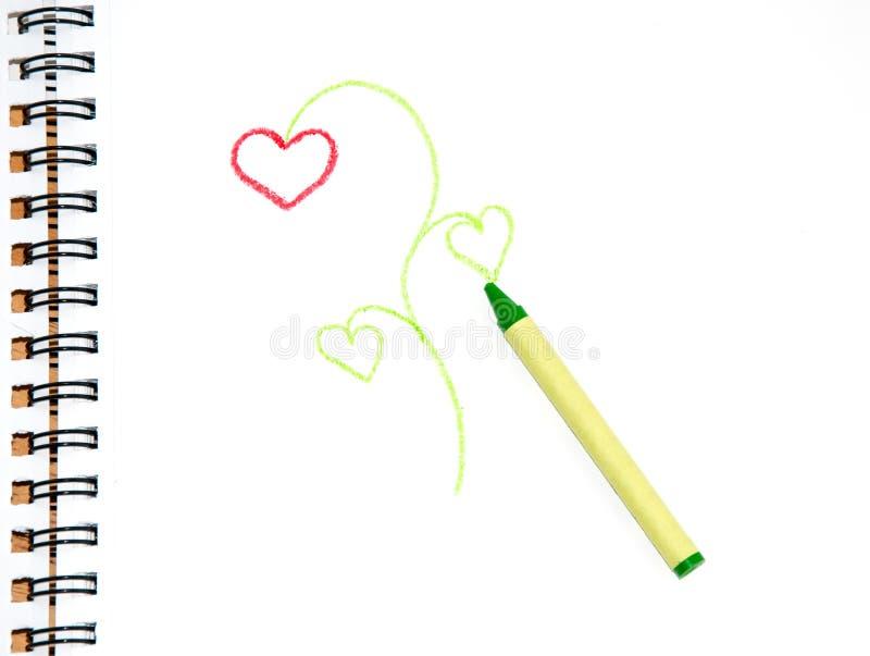 Download Pastel Verde No Papel Do Esboço Com Um Doodle De Um Pl Ilustração Stock - Ilustração de pastel, folhas: 26512201