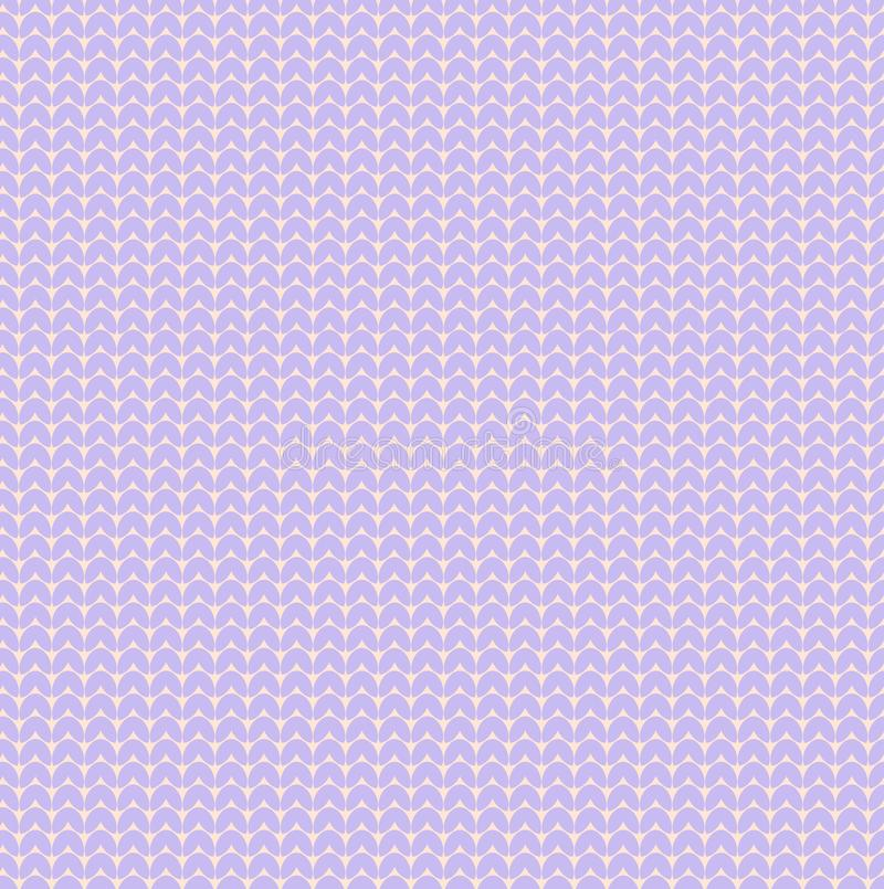 Pastel violet lavender vector knitted hearts sweater texture pattern bakground . Vector seamless pattern of pastel violet lavender knitted sweater texture vector illustration