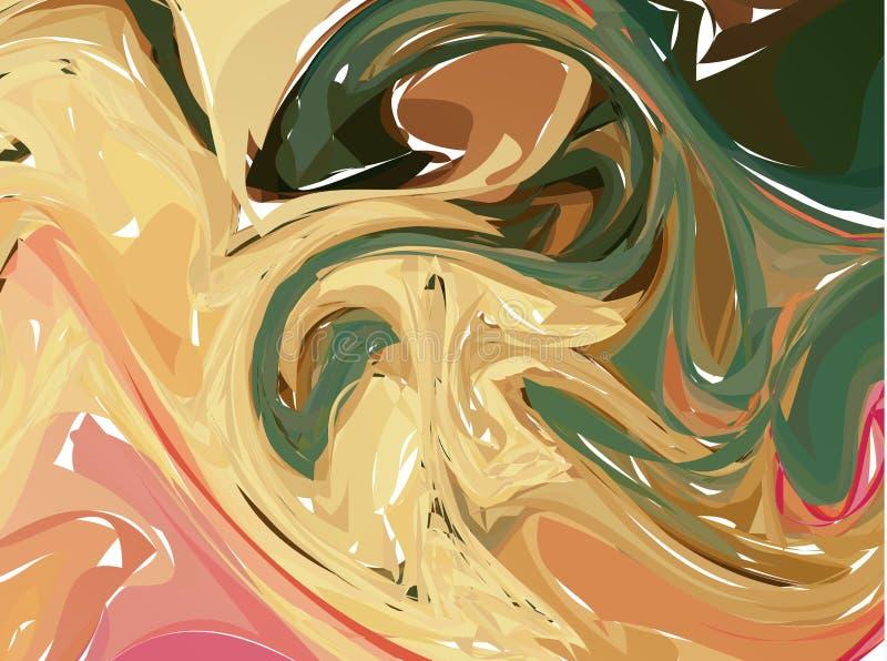 Pastel violet yellow digital marbling. Elegant marbled vector background. Liquid paint marbling backdrop. Warm color palette mesh. Background. Pale marbling royalty free illustration