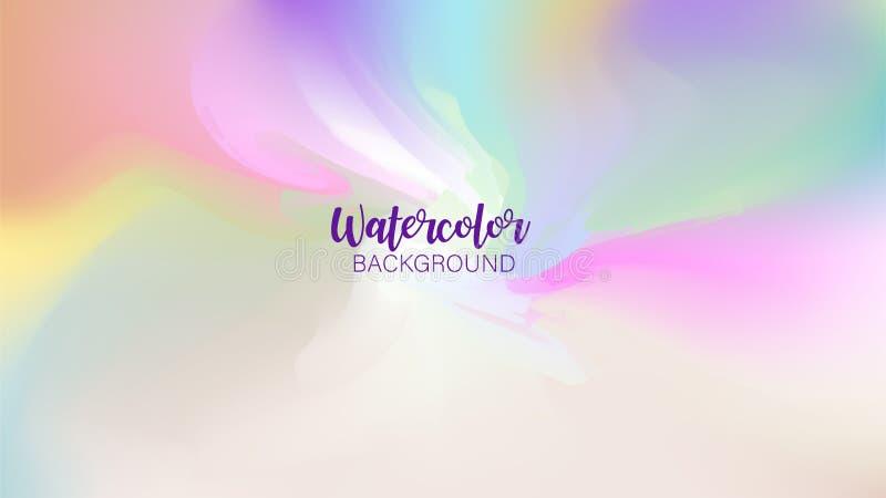 Pastel watercolor backdrop.  Fashion background. Watercolor brush strokes. Creative illustration. Artistic color palette. Vector. Illustration royalty free illustration